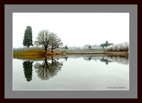 Frosty Morning at the Pond (Mat and Frame Simulation 111223-092439-Mk4-7200