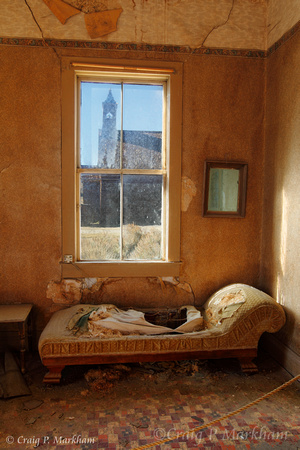 Couch with a Church view - Bodie, CA 111013-151632-MK4-2455, 56, 57 HDR -
